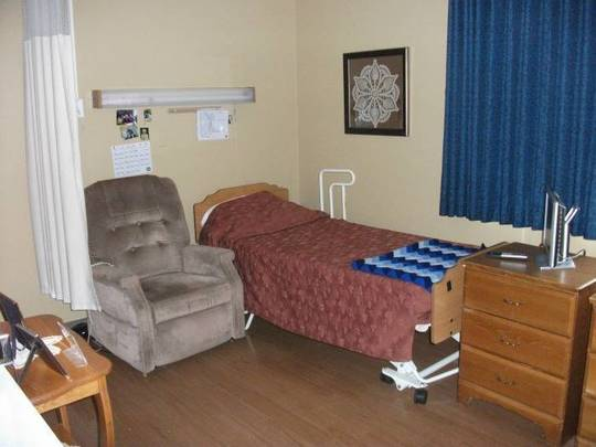 Semi-private room in Mill Valley Care Center